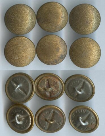 KN PFE WEHRMACHT BAHN POST PARTEI 2 WK UNIFORM BUTTON BOUTON 20 5MM SE KURZ