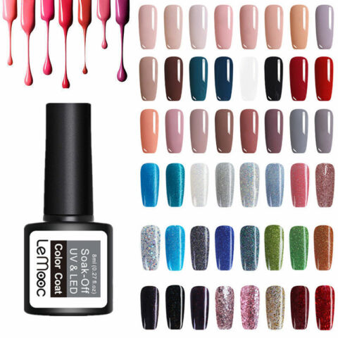 8ML LEMOOC PURE COLORS NAGEL GEL LACKE SOAK OFF GLITTER UV GEL POLISH MANICURE
