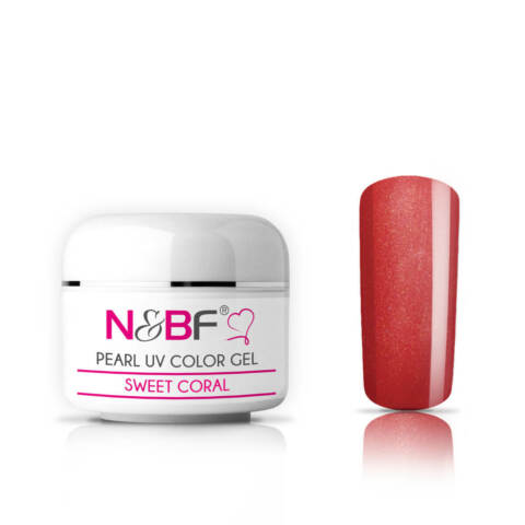 N BF UV FARBGEL PEARL 5ML SWEET CORAL MITTELVISKOS NAGEL GEL PERL EFFEKT COLOR