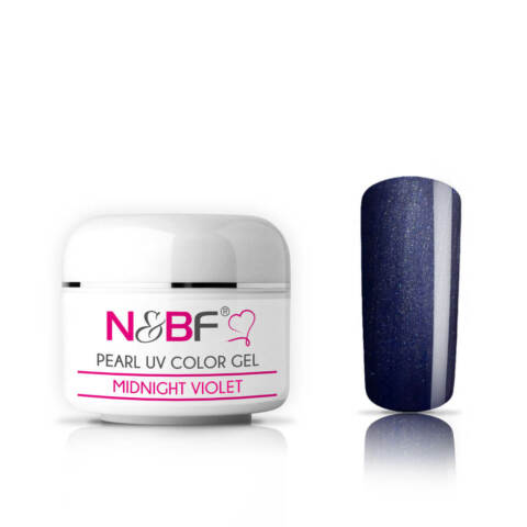 N BF UV FARBGEL PEARL 5ML MIDNIGHT VIOLET MITTELVISKOS NAGELGEL EFFEKT COLOR
