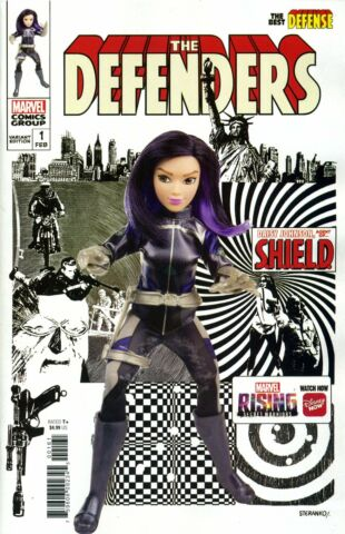 DEFENDERS BEST DEFENSE 1 MARVEL RISING DOLL HOMAGE MARVEL COMICS H306