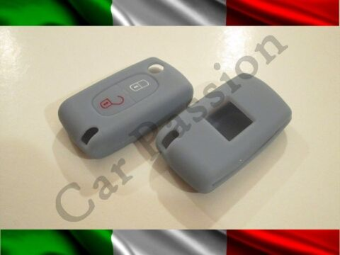 COVER SCHL SSEL PEUGEOT SILIKON 407 408 307 308 107 207 SHELL 2 BUTTONS GRAU