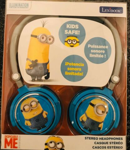 LEXIBOOK DESPICABLE ME MINION MADE STEREO HEADPHONES KIDS FOLD STORE EASY STUART