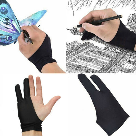 TWO FINGER ANTI FOULING GLOVE DRAWING PEN GRAPHIC TABLET PAD FOR ARTIST GE