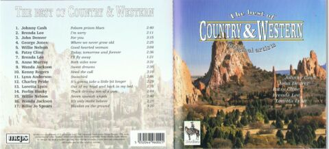 CD TOP MUSIK THE BEST OF COUNTRY WESTERN