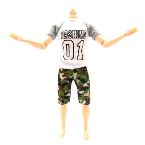 1SET CASUAL T SHIRT PANTS DOLLS CLOTHES OUTFIT FOR DOLLS ACCESSORIE BCDE