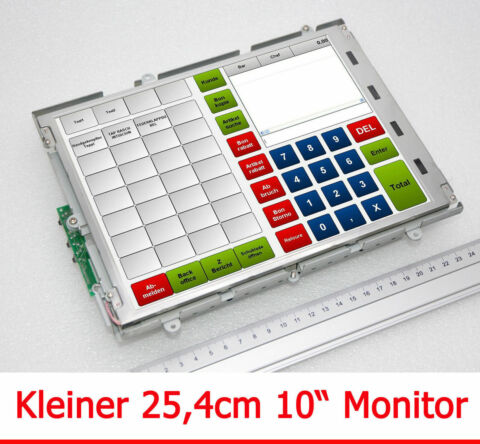 25CM 10 MONITOR SVGA 800X600 TFT DISPLAY MIT 12V PWR SUPPLY FOR PKW BOOT M77