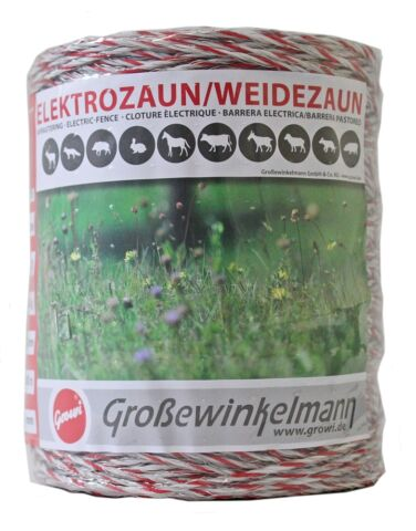 GROWI SUPERLINE LITZE 2 X 500 M 2ER PACK STROMLEITER WEIDEZAUNBAND