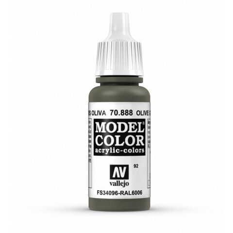 VALLEJO MODEL COLOR OLIVE GREY VAL70888 ACRYLIC PAINT 17ML BOTTLE 092
