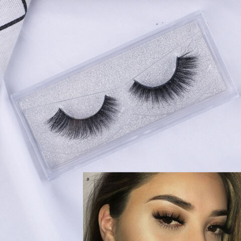 TOP 3D 100 MINK SOFT LONG NATURAL THICK MAKEUP EYE LASHES FALSE EYELASHES CCSD