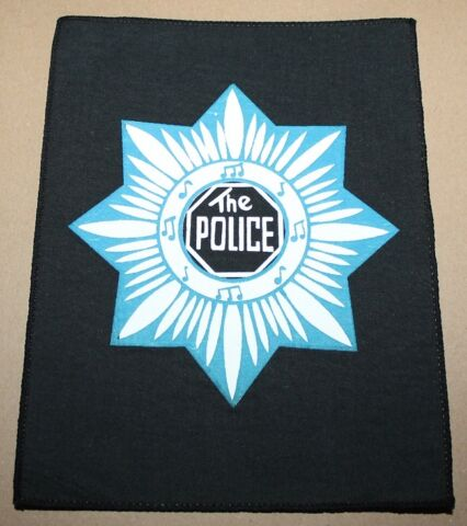 THE POLICE STAR SMALL PRINTED BACKPATCH VINTAGE 70S 80S RAR RARE
