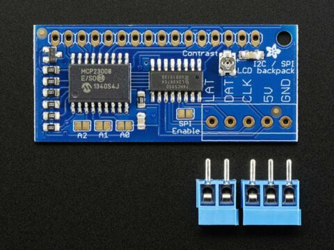 ADAFRUIT I2C SPI CHARACTER LCD BACKPACK FROM 8X1 TO 20X4 SIZES AF292