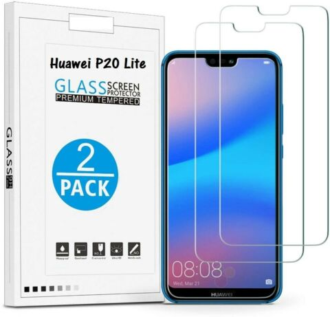 2 X HUAWEI P20 LITE DISPLAY GLASFOLIE TEMPERED GLASS PANZER 9H SCHUTZGLAS FOLIE