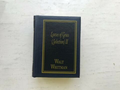 DEL PRADO MINIATURE BOOK CLASSICS LEAVES OF GRASS SELECTION II 2 WALT WHITMAN