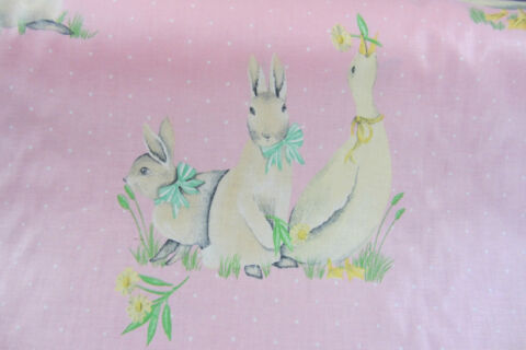 DANDY DUCK DESIGNERS GUILD COTTON CURTAIN CRAFT FABRIC 140CM WIDE PINK
