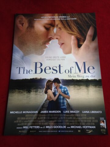 THE BEST OF ME KINOPLAKAT POSTER A1 MICHELLE MONAGHAN NICOLAS SPARKS MARSDEN