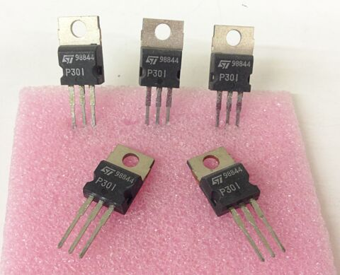 3 ST CK 3 PIECES SGSP301 N CHANNEL MOSFET 100V 1 40 OHM 2A 18W TO 220