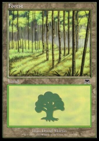 MTG 1X FOREST WALD ONSLAUGHT NR 350 FOIL NM