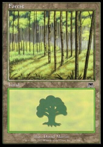 MTG 1X FOREST WALD ONSLAUGHT NR 350 DEUTSCH GERMAN FOIL NM