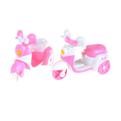 PINK MOTORCYCLE CAN BE SIT BY DOLLS FOR CHILDRENS TOY CARS O