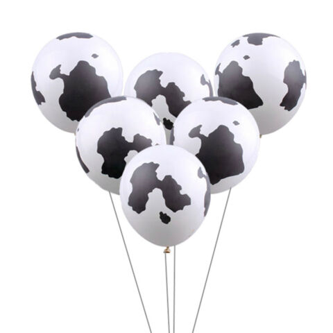 10X 12 INCH COW PRINTING LATEX BALLOONS FOR COWBOY COWGIRL WESTERN PARTY