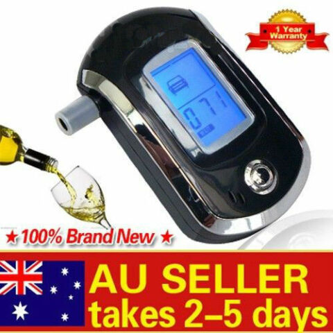 LCD POLICE DIGITAL BREATH ALCOHOL ANALYZER TESTER BREATHALYZER AUDIABLE AU AER
