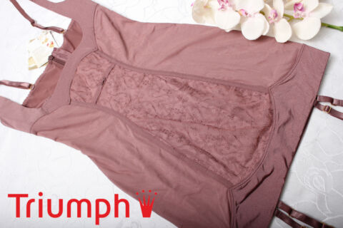 TRIUMPH DAMEN KLEID BODY GR E GR 38 SCULPTING ESSENCE DRESS ROSE BROWN NEU