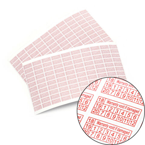 200PCS 2018 2020 WARRANTY VOID IF DAMAGED PROTECTION SECURITY LABEL STICKER X