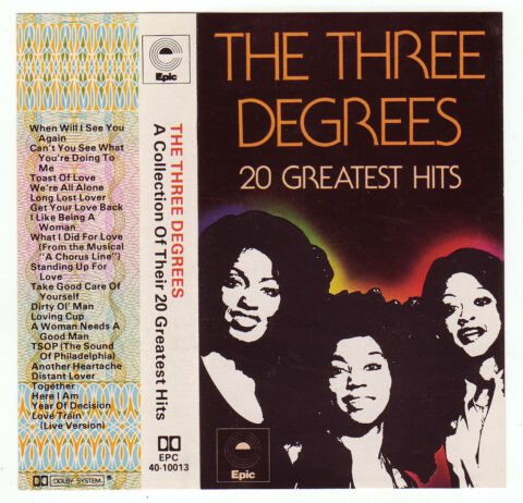 1979 THE THREE DEGREES A COLLECTION OF THEIR 20 GREATEST HITS MC 546