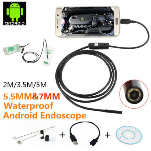 2M 3 5M 5M LED ANDROID ENDOSCOPE BORESCOPE WATERPROOF INSPECTION VIDEO CAMERA UB
