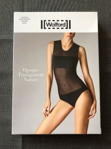 WOLFORD OPAQUE TRANSPARENT NATURE STRING BODY GR E S MIDNIGHT NEU