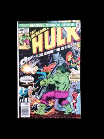 THE INCREDIBLE HULK 207 JAN 1977 THE DEFENDERS