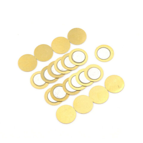 20PCS 15MM PIEZO ELEMENTS SOUNDER SENSOR TRIGGER DRUM DISC COPPER S WR