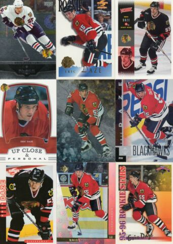 9 NHL PLAYERCARDS VON ERIC DAZE