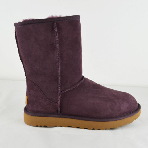 UGG LEDER BOOTS CLASSIC SHORT II IN BORDEAUX GR 39 ORIGINAL