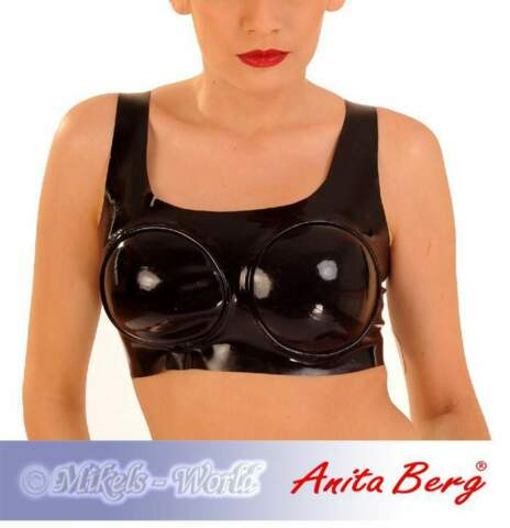 ANITA BERG LATEX TOP BUSTIER MIT GEFORMTEN CUPS IN DIVERSEN FARBEN