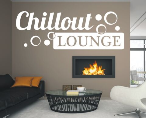 X406 WANDTATTOO SPRUCH CHILLOUT LOUNGE RETRO STICKER AUFKLEBER WANDSTICKER