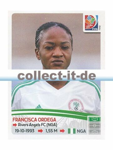 PANINI FRAUEN WM WORLD CUP 2015 STICKER 324 FRANCISCA ORDEGA