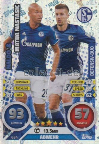 MATCH ATTAX EXTRA 16 17 2017 634 NALDO MATIJA NASTASIC DUO KARTE
