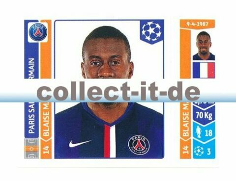 PANINI CHAMPIONS LEAGUE 2014 15 STICKER 442 BLAISE MATUIDI