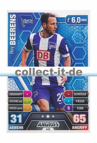 MATCH ATTAX EXTRA 14 15 442 ROY BEERENS