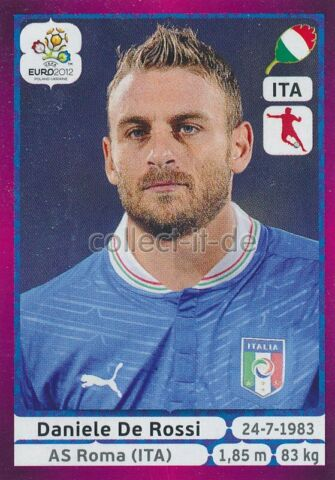 PANINI EM 2012 DEUTSCHE VERSION STICKER 324 DANIELE DE ROSSI