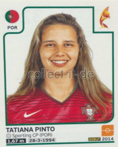 STICKER 324 TATIANA PINTO PORTUGAL FRAUEN EM2017