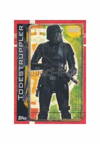 TOPPS STAR WARS ROGUE ONE 176 TODESTRUPPLER HOLO