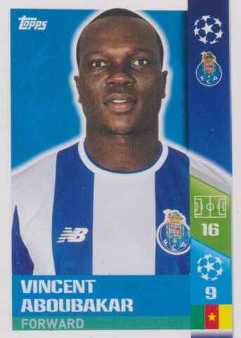 CHAMPIONS LEAGUE 17 18 STICKER 324 VINCENT ABOUBAKAR FC PORTO