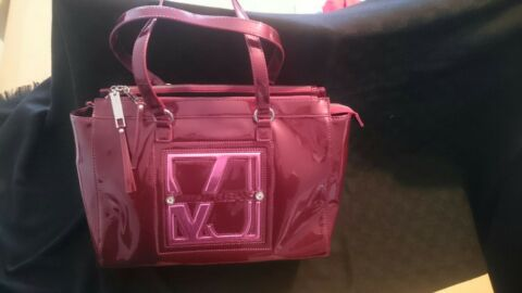 VERSACE JEANS TASCHE LACK LILA PINK TOP
