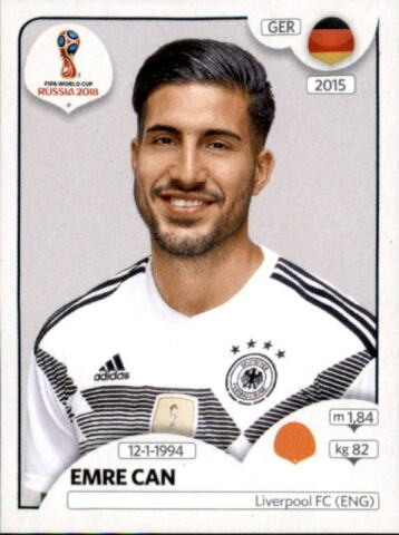 PANINI WM 2018 WORLD CUP RUSSIA STICKER 442 EMR CAN DEUTSCHLAND