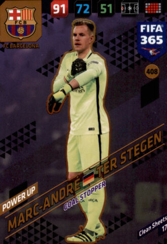 FIFA 365 CARDS 2018 408 MARC ANDR TER STEGEN POWER UP GOAL STOPPERS