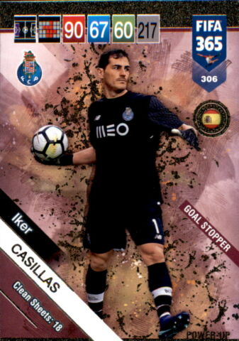 FIFA 365 CARDS 2019 306 IKER CASILLAS GOAL STOPPER