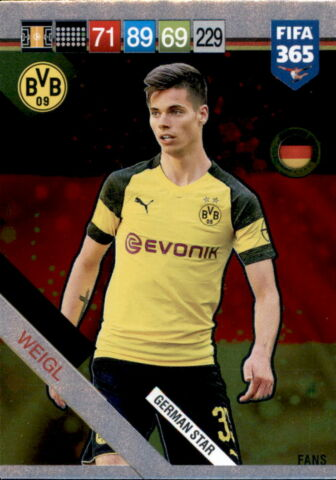 FIFA 365 CARDS 2019 408 JULIAN WEIGL GERMAN STARS
